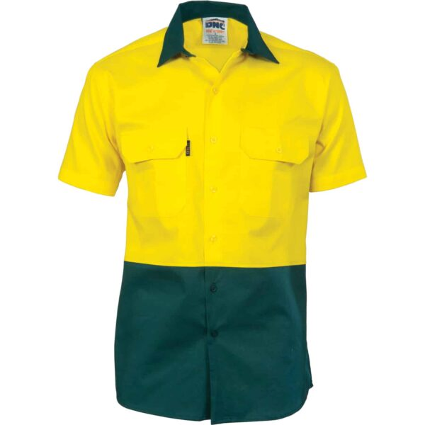 155gsm HiVis Short Sleeve Shirt with Vents - hivis