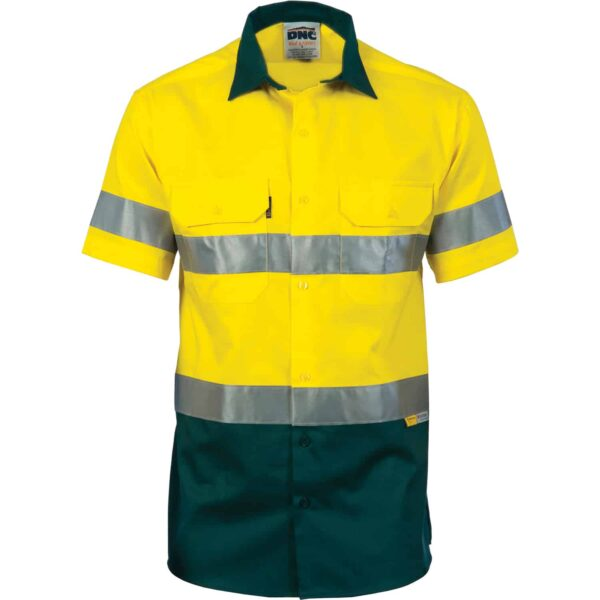 155gsm HiVis Short Sleeve Shirt with Vents & Tape - tape
